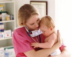Воспаление легких у детей первого года жизни