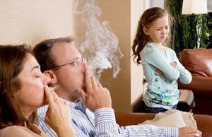 Вплив пасивного куріння на організм малюків