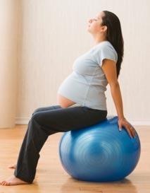 Вправи на фітболі для вагітної