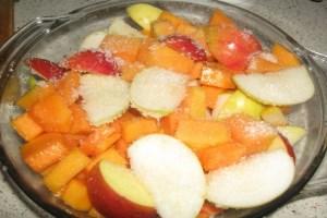 Гарбуз, тушкована з яблуками