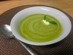 Суп – крем із зеленого горошку