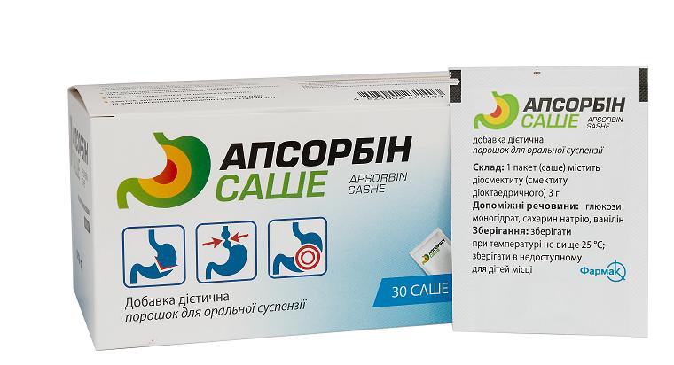 Апсорбін саше - рекомендації до споживання